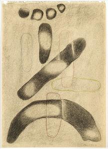 Willi Baumeister, 'Komposition, statuarisch, mit Linienformen (Composition, statuary, with line shapes)', 1938