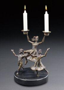 Zachary Oxman, 'Rejoice My Children Candlesticks'