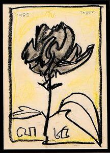 Jogen Chowdhury, 'Flower', 1985