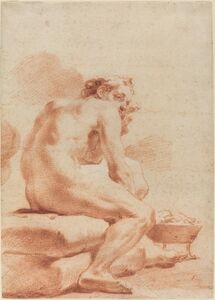 Gaetano Gandolfi, 'A Young Man Warming Himself at a Brazier'