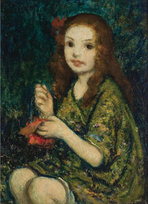Francis Luis Mora, 'Portrait of a young girl ', ca. 1920