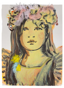 Claire Tabouret, 'Portrait with Feathers ', 2017