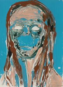 Nicola Tyson, 'Self Portrait (Blue #3)', 2002