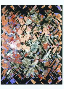 François Rouan, 'Mappe jaspé de rouge et de noir', 2005
