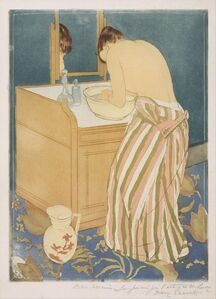 Mary Cassatt, 'Woman Bathing (La Toilette)', 1890–1891