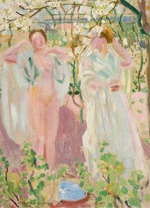 Maurice Denis, 'Deux femmes sous un arbre', ca. 1906