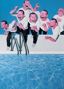 Yue Minjun, 'Take the Plunge ', 2009-2010