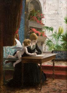 Jean-Léon Gérôme, 'Jeune femme et Amour', 1888