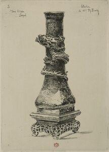 Félix Hilaire Buhot, 'Japonisme: Vase etain laque', 1875
