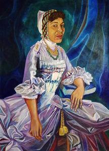 Eria Sane Nsubuga, ' Marie Antoinette (Zora Neale- Hurston portrait) ', 2019