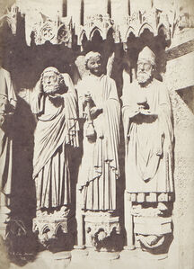Jean-Louis-Henri Le Secq, 'Religious Sculpture at the Cathedral of Amiens', 1852/1852c