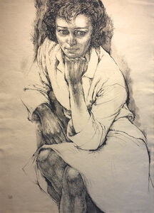 Barbara Swan, 'Portrait of Anne Sexton', ca. 1964