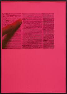 Ignasi Aballí, 'Filter CMYK (Magenta)', 2018