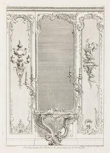 Juste-Aurèle Meissonnier, 'Developement d'un Trumeau de glace fait pour le Portugal, 3rd plate', 1740