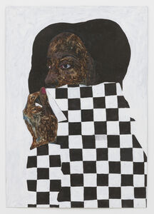 Amoako Boafo, 'Black and White', 2018