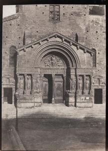 Charles Nègre, 'The West Porch of Saint-Trophime, Arles', 1854