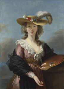 Élisabeth Louise Vigée-Le Brun, 'Self Portrait in a Straw Hat', after 1782