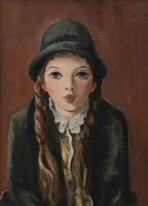 B. J. O. Nordfeldt, 'Girl with Braids', 1940