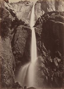Carleton E. Watkins, ' Yosemite Falls, View from the Bottom', 1878