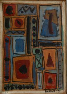 Miguel Ángel Pareja, 'Composición murale I', 1955