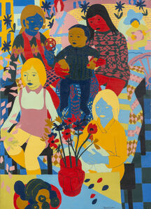 Norman Gilbert, 'Four Girls and Mark', 1970