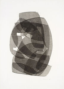Otto Neumann, 'Black and White Abstract II', 1970
