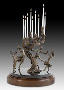 Zachary Oxman, 'The Tree of Life Family Menorah'