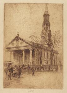 Charles Frederick William Mielatz, 'St. Paul's, Broadway, N.Y.', 1906