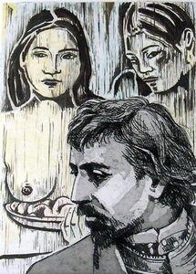 Jonathan Santlofer, 'Two Tahitian Women', 2001