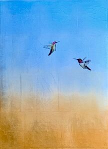 Carolyn Reynolds, 'Hummers Over Copper Horizon IV', 2020