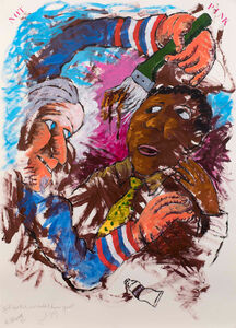 Robert Colescott, 'If It Was Pink, How Would I Know You', 1992
