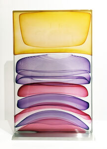 Jamie Harris, 'Threaded Infusion Block in Gold, Purple and Red', 2012