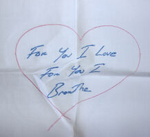 Tracey Emin, 'For You I Love For You I Breathe - Embroidered Napkin', 2012