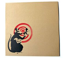 "Banksy, '""Future"" (Radar Rat) Dirty Funker album cover (Brown)', 2007"