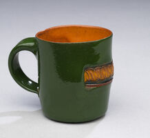 Ken Price, 'Untitled (Tequila Cup - Green Exterior with Yellow Design)', 1970-1979