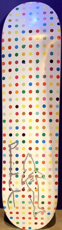 Damien Hirst, 'Dots 5 - Little Shark', Other, Screenprinted skatedeck with unique drawing in marker, Artsy x Capsule Auctions