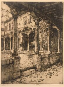 Ernest David Roth, 'Cloisters of San Gregorio, Venice', 1907