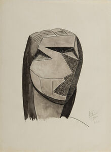 Julio Gonzales, 'Tête cubiste', 1940