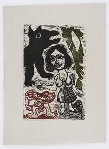 Ken Kiff, 'Woman, Dog, Man, Tree, Snail ', 1981