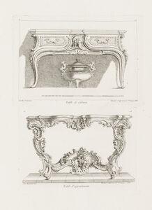 Juste-Aurèle Meissonnier, 'Table de Cabinet, 6th Plate', 1748