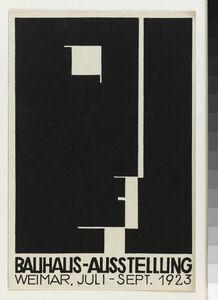 Herbert Bayer, 'Carte postale pour l'exposition Bauhaus', 1923