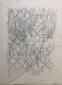Katherine Porter, 'Abstract Expressionist Pencil Drawing Katherine Porter', 1970-1979