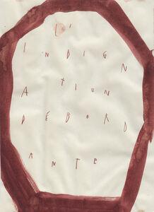 Arpaïs Du Bois, 'L'indignation débordante', 2016