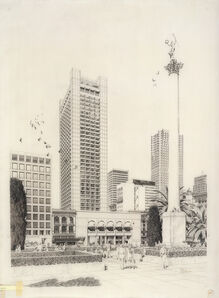Carlos Diniz, 'Hyatt House Hotel - Tower View', 1970