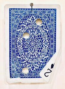 Ryan Brown, 'Two Pair (Blue Card)', 2019