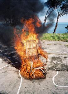Nico Krijno, 'Burning Wicker Chair', 2011