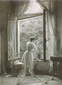 Léonard Misonne, 'Madame Misonne in the Misonne House in Gilley, Belgium', 1910/1910-35