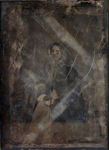 Michael Huey, 'Unknown Woman (no. 2); Based on a damaged 1850s/60s Daguerreotype by Mathew Brady (in the public domain, United States Library of Congress, Washington, D.C.)', 2019