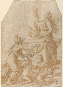 Giulio Romano, 'The Sacrifice of a Goat to Jupiter'