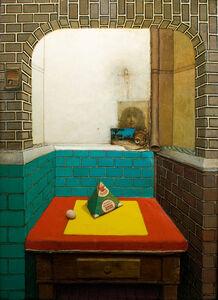 Gregory Gillespie, 'Roman Interior Kitchen (with Milk Carton)', 1969